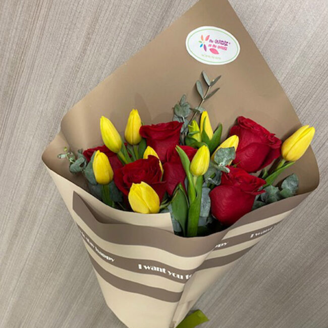 Ramillete Tulipán y Rosas