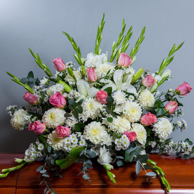 Cubrecaja con rosas